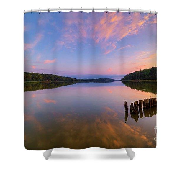 Serene Evening Shower Curtain