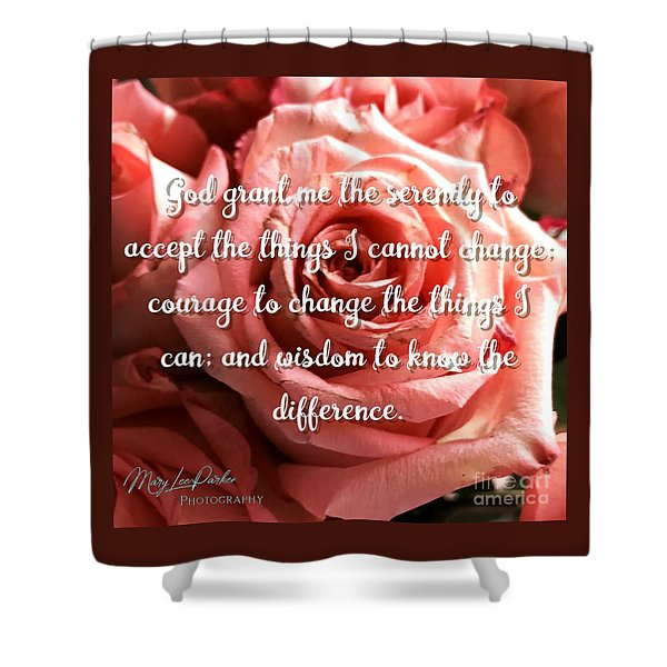 Serenity Prayer II Shower Curtain