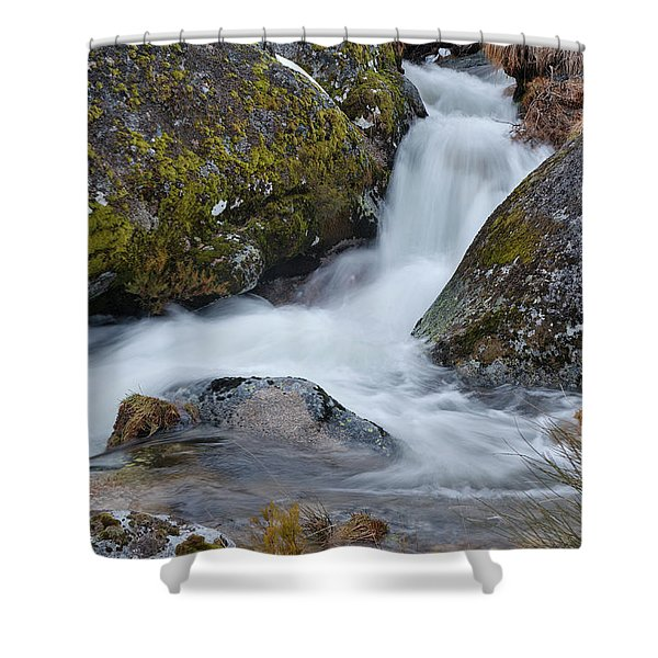 Serra Da Estrela Waterfalls. Portugal Shower Curtain