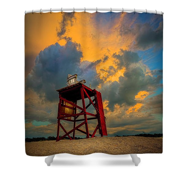 Setting In The Clouds Shower Curtain