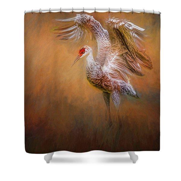 Seventh Inning Stretch Shower Curtain
