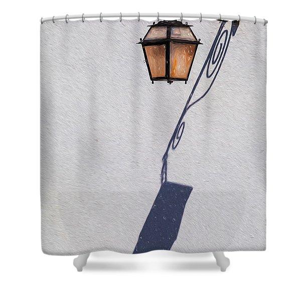 Shadow Lamp Shower Curtain