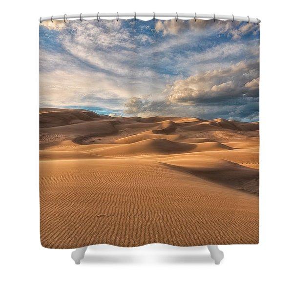 Shadowed Shower Curtain
