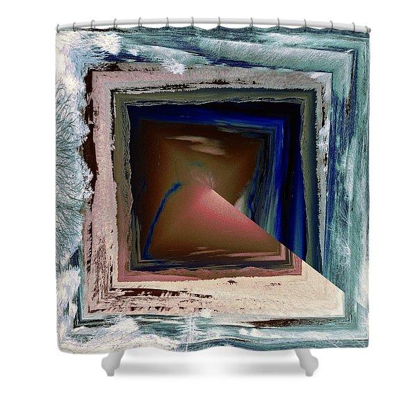 Shower Curtain featuring the digital art Shaft by Robert G Kernodle