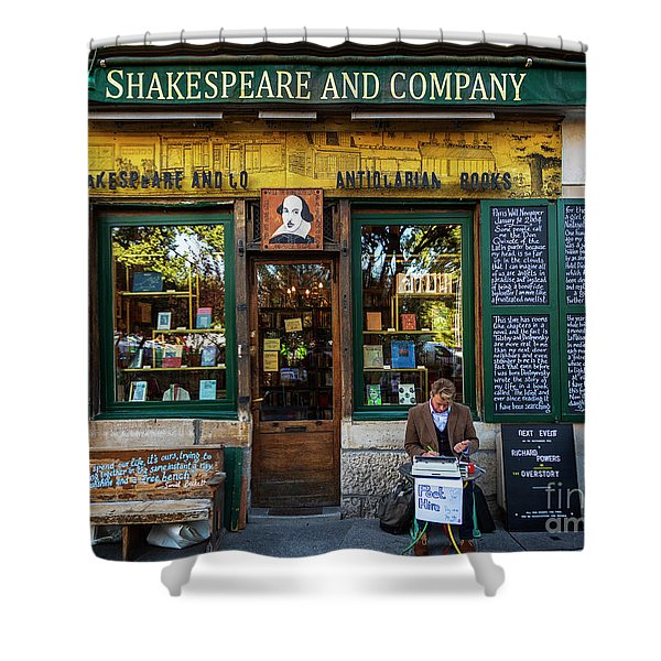Shakespeare And Company Bookstore Shower Curtain