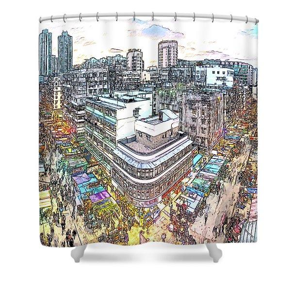 Sham Shui Po District, Kowloon,  Hong Kong Shower Curtain