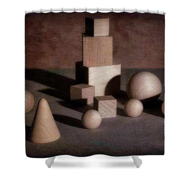 Shape And Shadow Shower Curtain