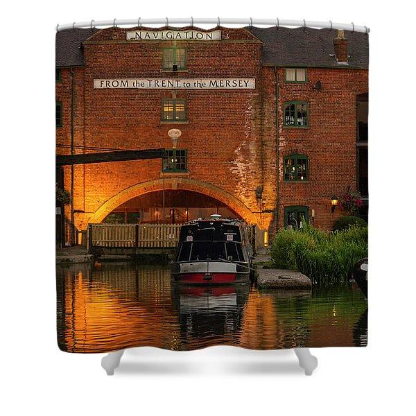 Shardlow Wharf Shower Curtain