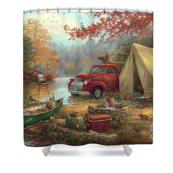 Share The Outdoors Shower Curtain