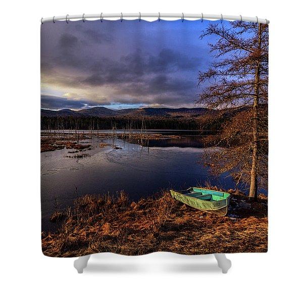 Shaw Pond Sunrise - Landscape Shower Curtain
