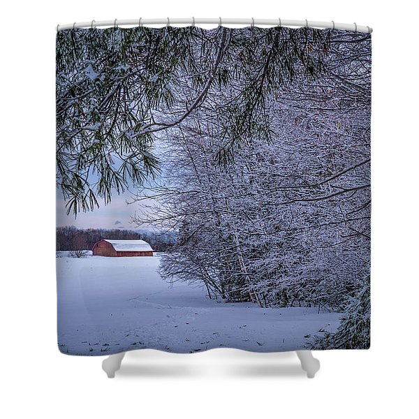 Shed At Sunset Shower Curtain