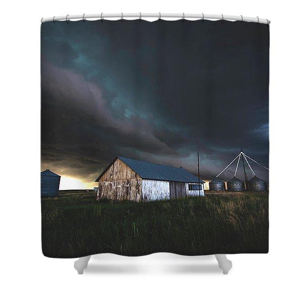 Shelf Over Cheyenne Wells Shower Curtain