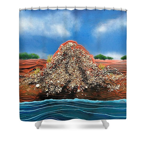 Shell Mound Shower Curtain