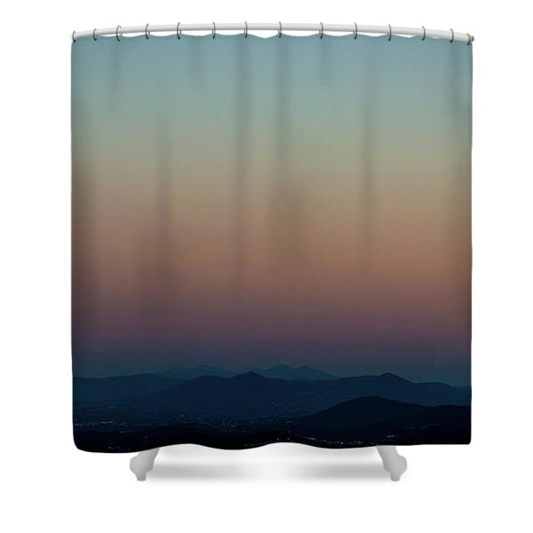 Sherbert Sunset Over The Blue Ridge Mountains Shower Curtain