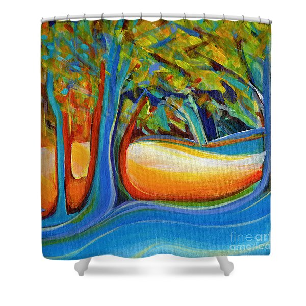Shimmering Whispers Shower Curtain