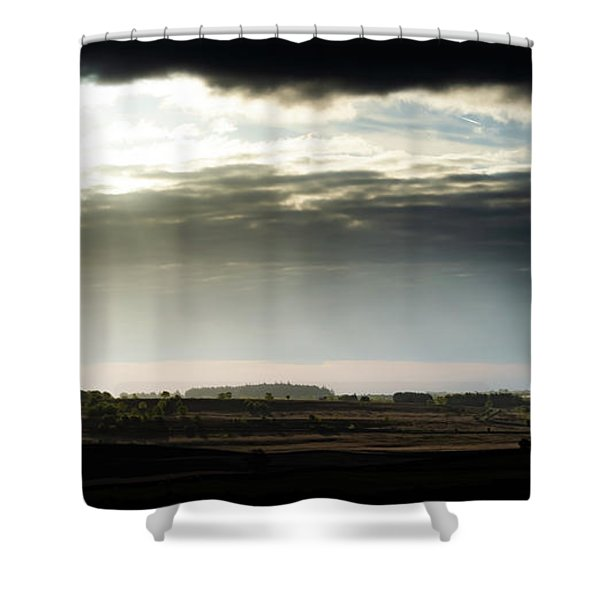 Shower Curtain featuring the photograph Shining Through At Baslow Edge by Scott Lyons