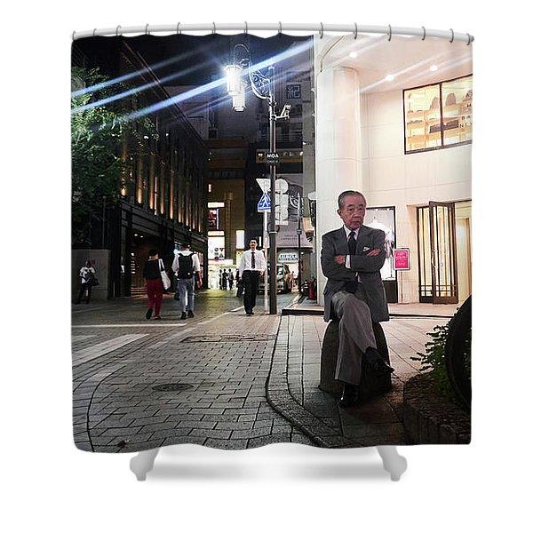 Shinjuku Man Shower Curtain