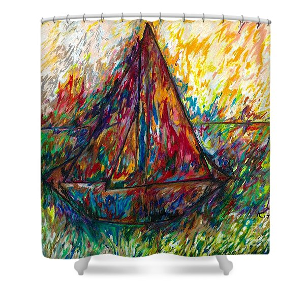 Ship In Color Shower Curtain