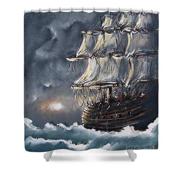 Ship Voyage Shower Curtain