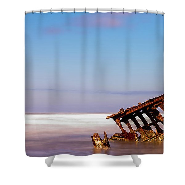 Ship Wreck Shower Curtain