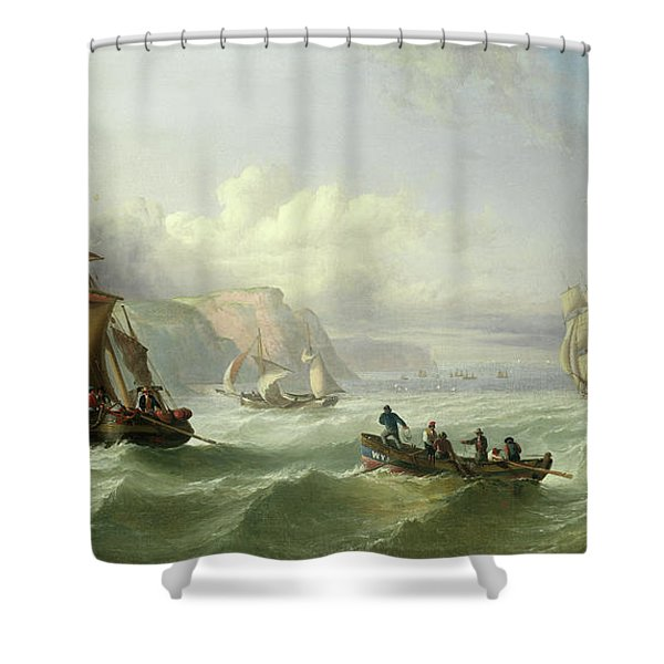 Shipping Off The Yorkshire Coast Shower Curtain