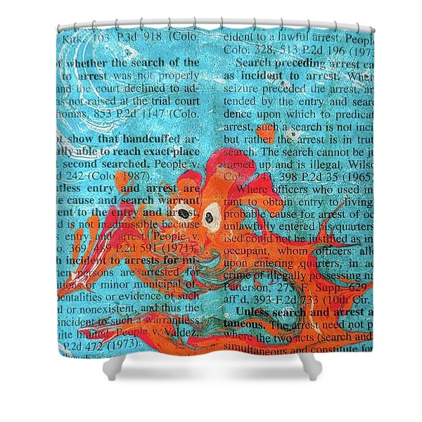 Shock And Awe  Shower Curtain