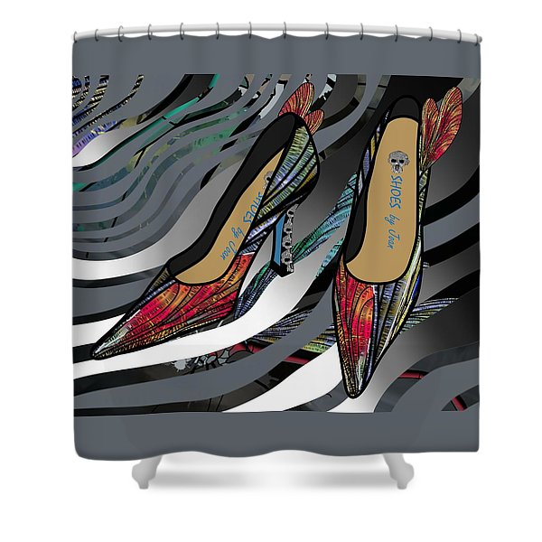 Shoes By Joan - Dragon Fly Wing Pumps Shower Curtain