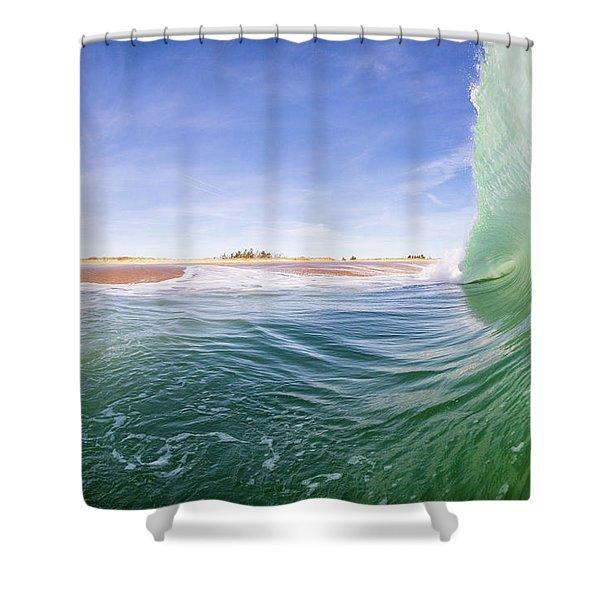 Shorebreak Shower Curtain