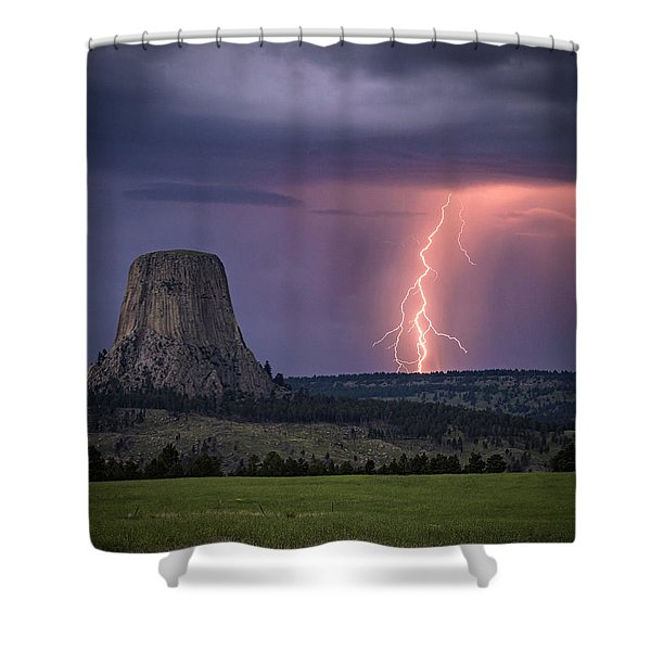 Showers And Lightning Shower Curtain