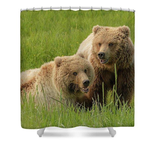Siblings Shower Curtain