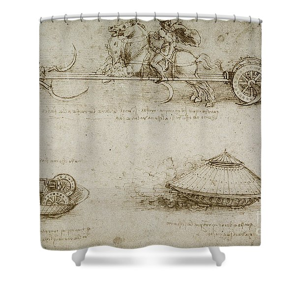 Sickle Tank Shower Curtain