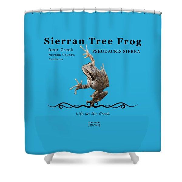 Sierran Tree Frog Pseudacris Sierra Shower Curtain