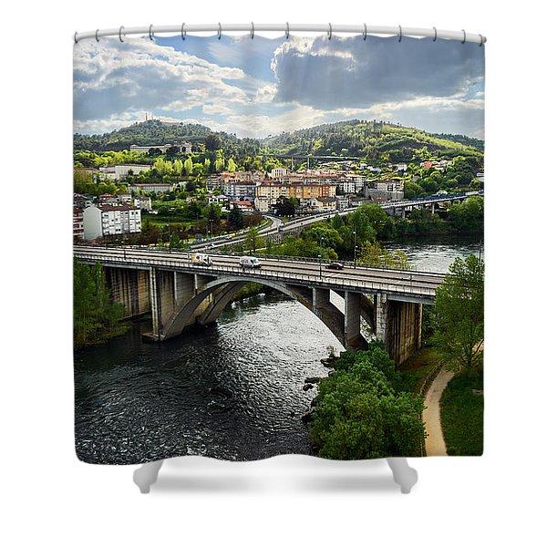 Sights From The Millennium Bridge Shower Curtain
