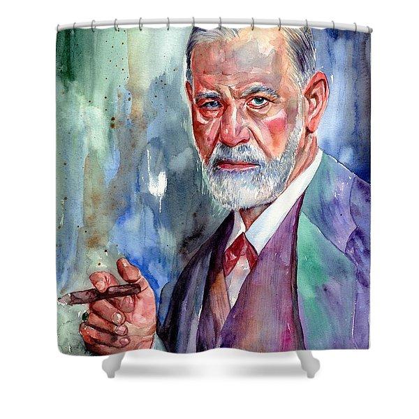 Sigmund Freud Portrait II Shower Curtain