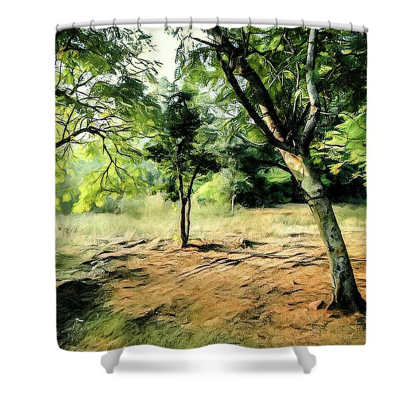 Silence Of Forest Shower Curtain