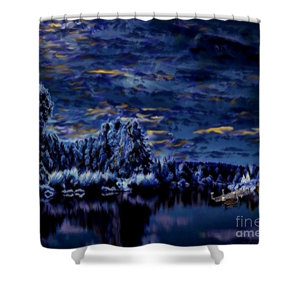 Silent Moments Shower Curtain