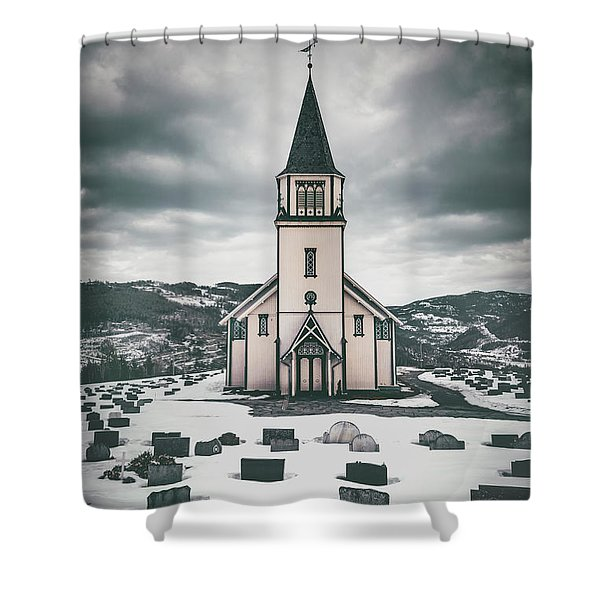Silent Prayers Shower Curtain