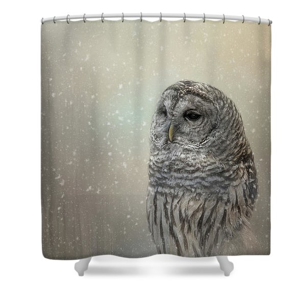 Silent Snow Fall Shower Curtain