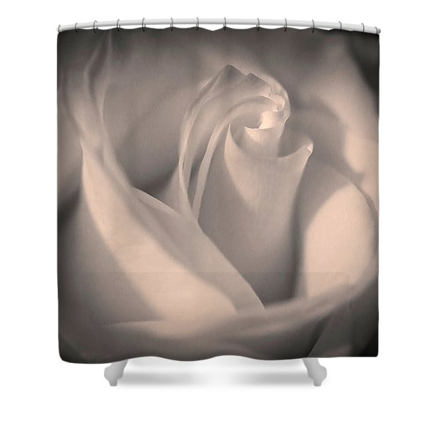 Silky Pastel Rose Shower Curtain