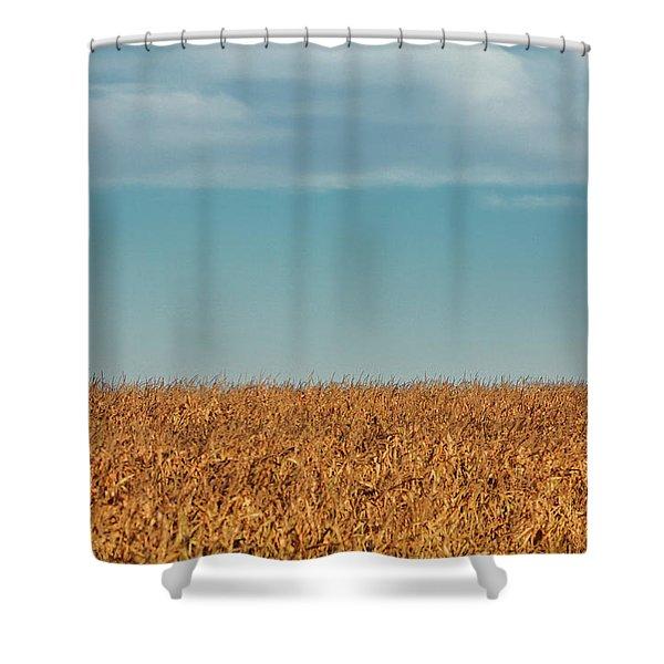 Silo Beyond Corn Shower Curtain