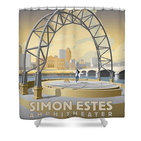 Simon Estes Amphitheater Shower Curtain
