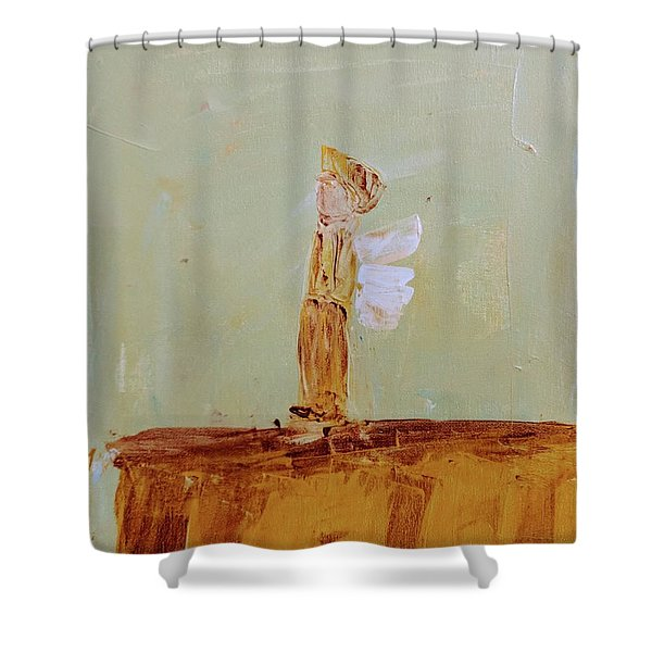 Simply Sweet Angel Boy Shower Curtain