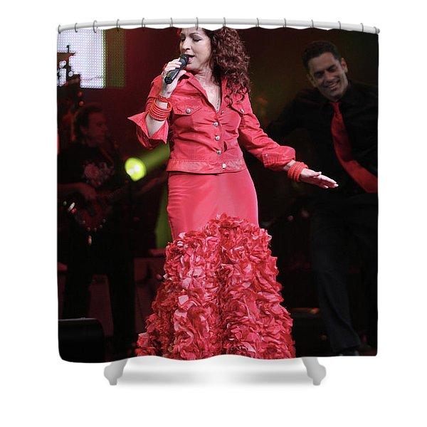 Singer Gloria Estefan  Shower Curtain