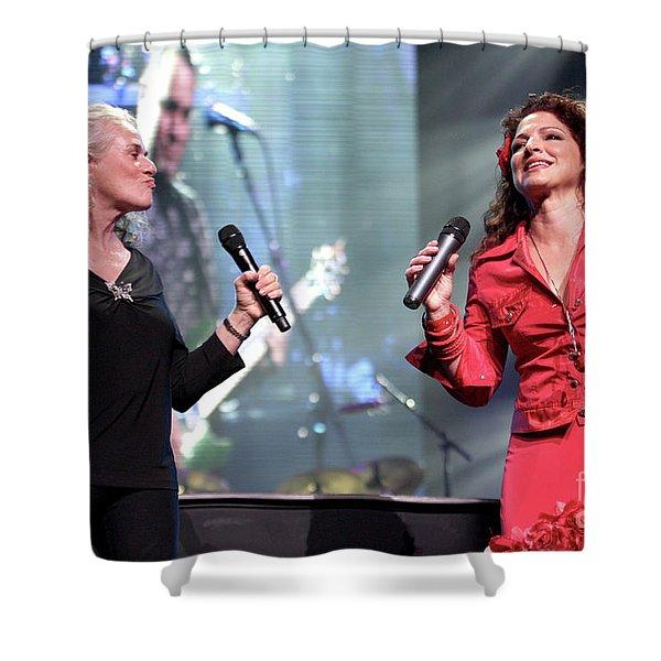 Carole King And Gloria Estefan Shower Curtain