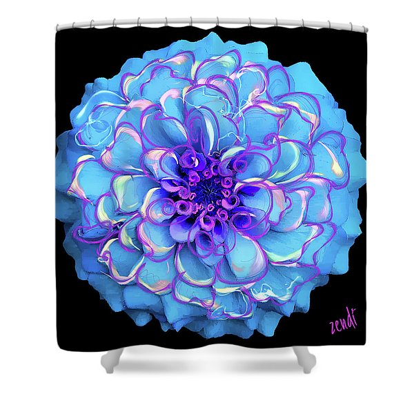 Singing The Blues Shower Curtain