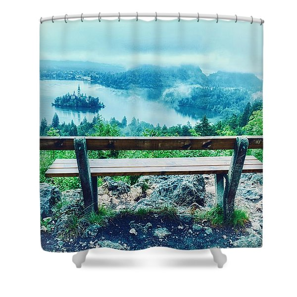 Sit A Spell Shower Curtain