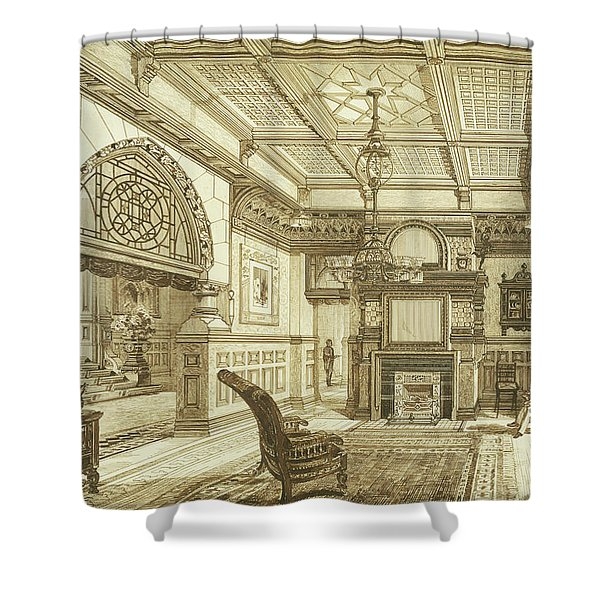 Sitting Room Of Bardwold, Merion Pa Shower Curtain
