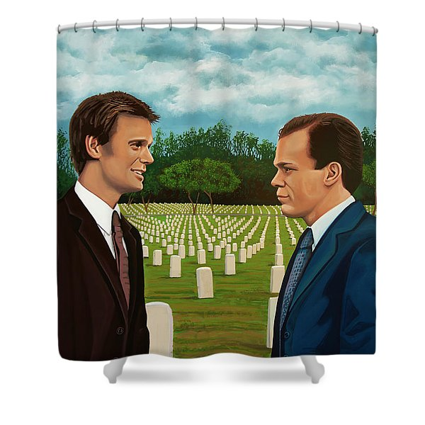 Six Feet Under Painting Shower Curtain