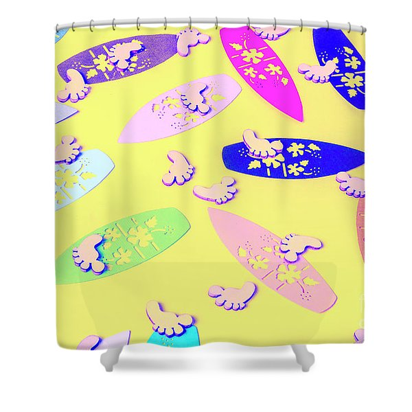 Sixties Surf Shower Curtain