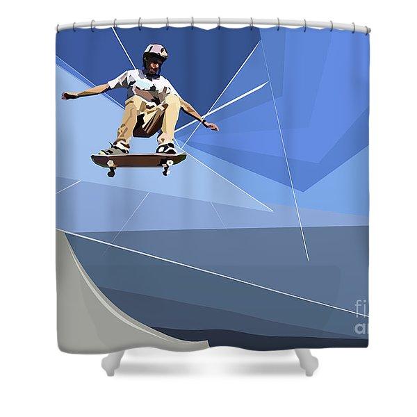 Skateboarder Shower Curtain